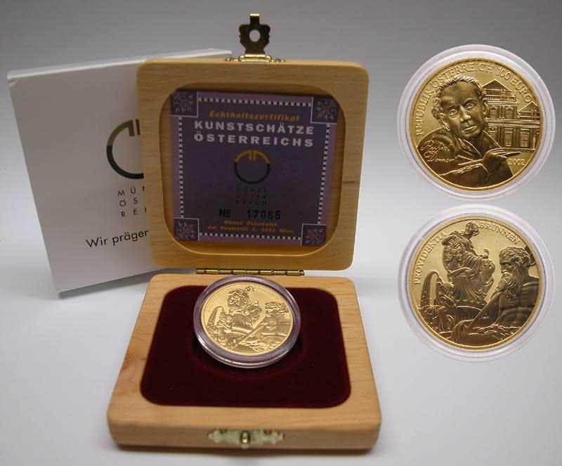 Lieferumfang:Österreich : 100 Euro Bildhauerei  2002 Stgl.