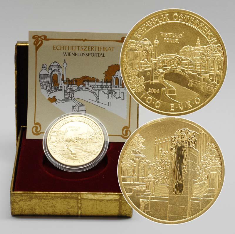 Lieferumfang:Österreich : 100 Euro Wienflussportal  2006 PP 100 Euro Wienflussportal 2006