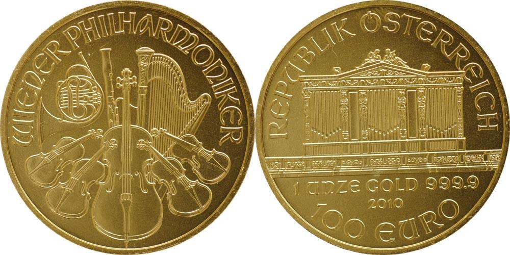 Lieferumfang:Österreich : 100 Euro 1 Unze  2010 Stgl.