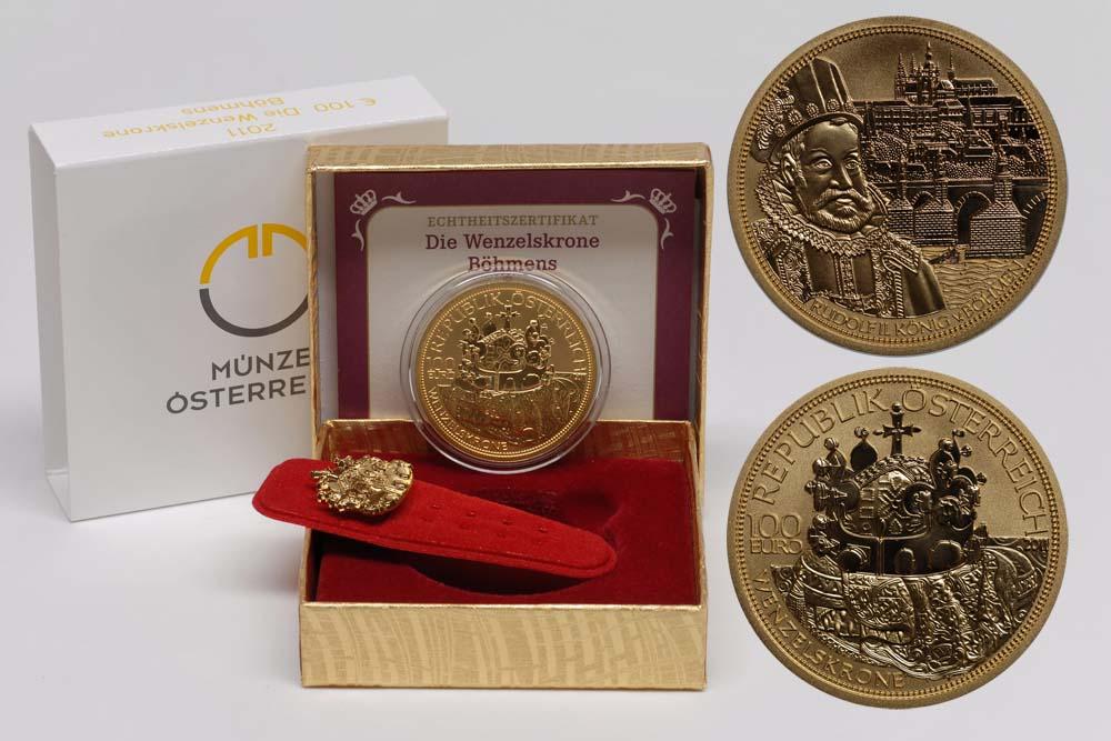 Lieferumfang:Österreich : 100 Euro Die Wenzelskrone Böhmens  2011 PP