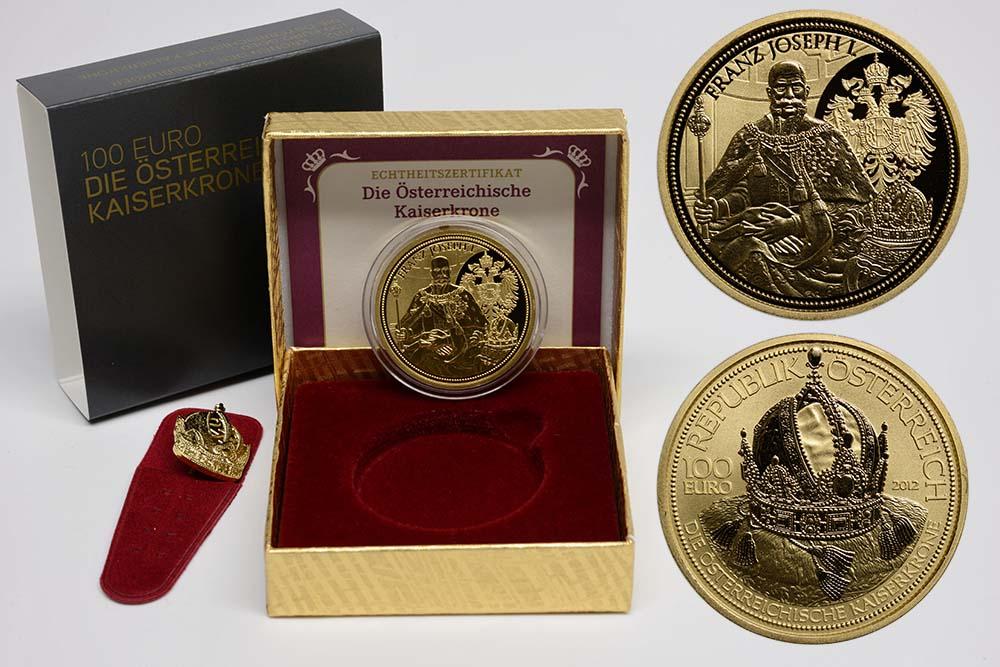 Lieferumfang:Österreich : 100 Euro Die Österreichische Kaiserkrone  2012 PP