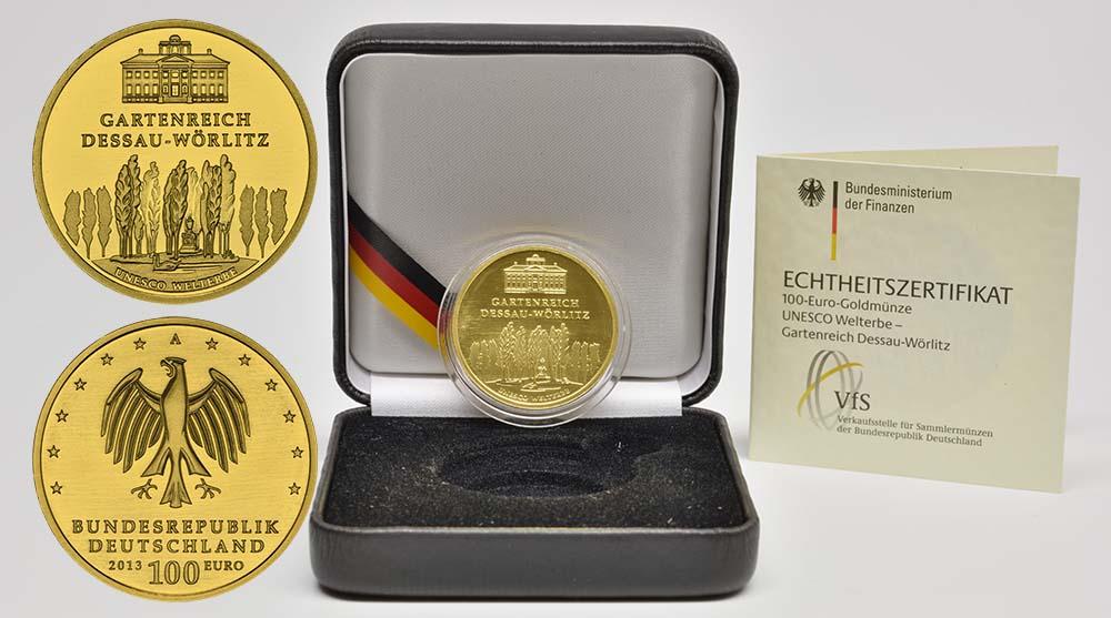Übersicht:Deutschland : 100 Euro Gartenreich Dessau-Wörlitz  2013 Stgl.