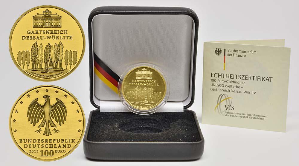 Deutschland : 100 Euro Gartenreich Dessau-Wörlitz  2013 Stgl.