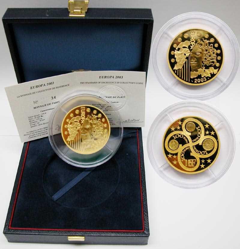 Frankreich 100 Euro Europa Münze 2003 Pp Gold