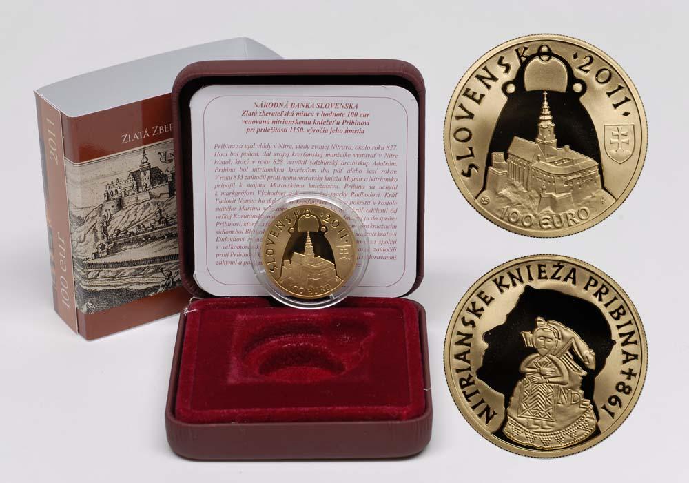 Lieferumfang:Slowakei : 100 Euro Fürst Pribina von Nitra  2011 PP