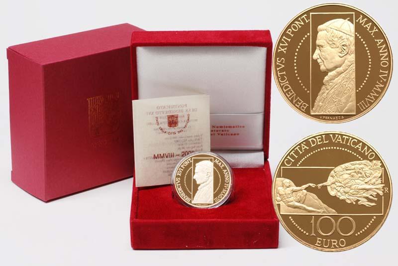 Lieferumfang:Vatikan : 100 Euro Die Erschaffung des Menschen -selten- 2008 PP 100 Euro Vatikan 2008