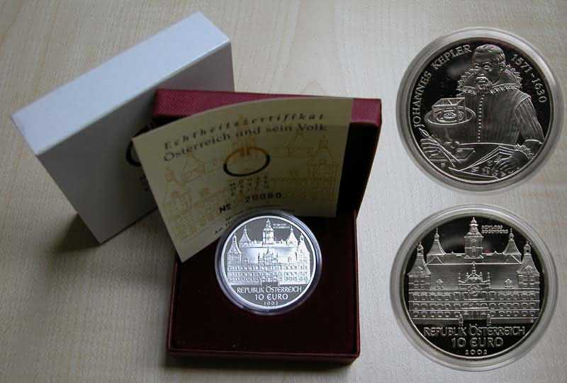 Lieferumfang:Österreich : 10 Euro Schloß Eggenberg  2002 PP
