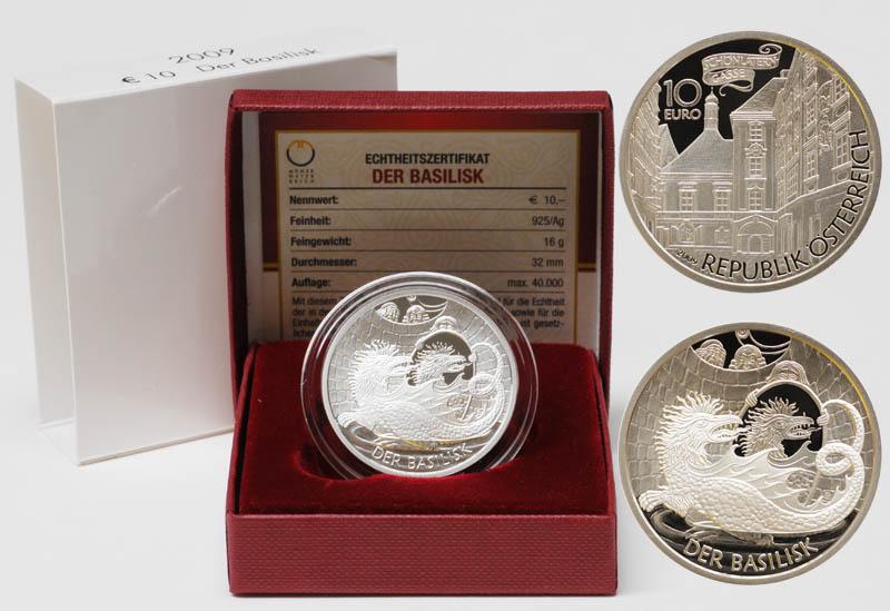 Lieferumfang:Österreich : 10 Euro Der Basilisk  2009 PP 10 Euro Basilisk 2009