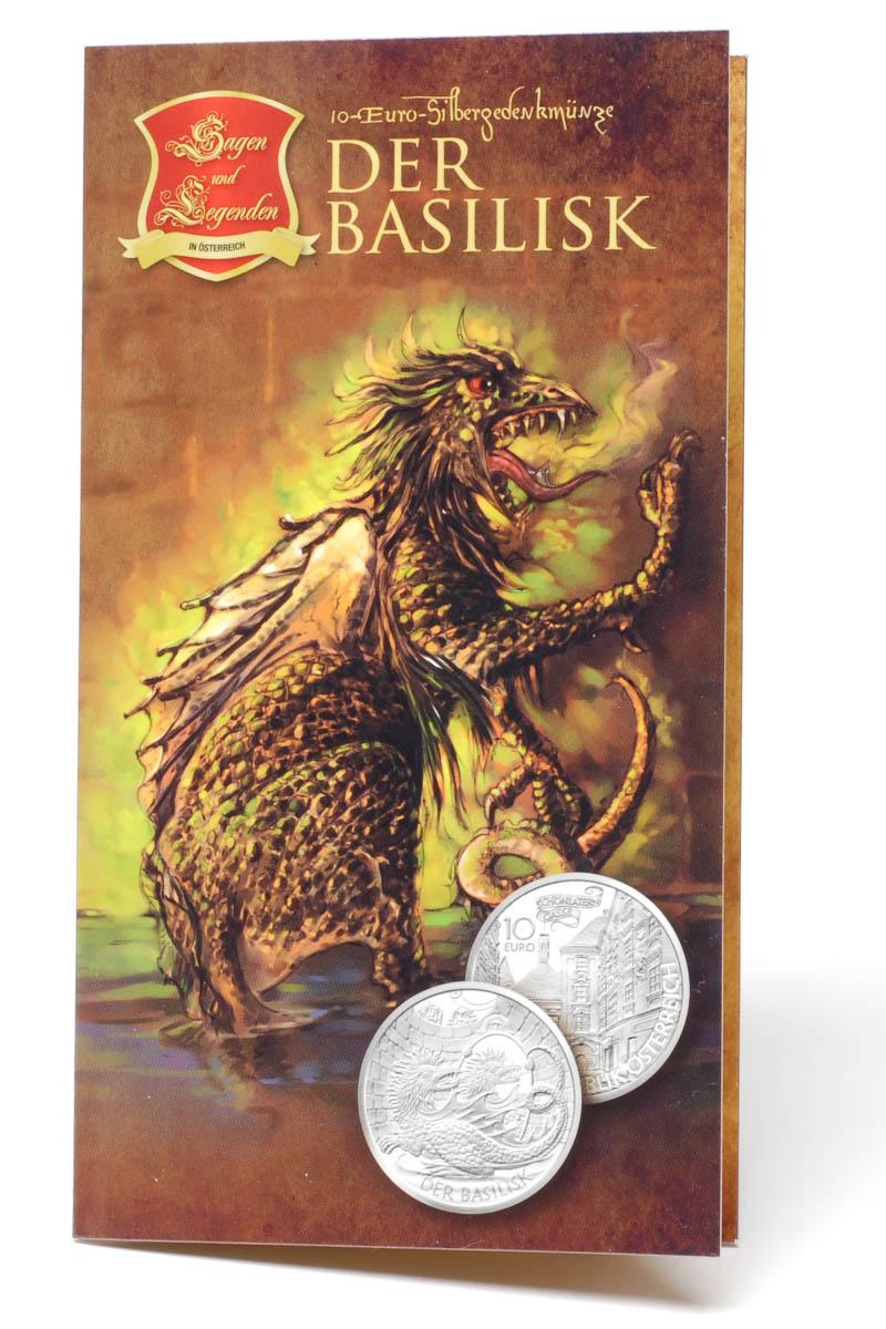 Lieferumfang:Österreich : 10 Euro Der Basilisk  2009 Stgl. 10 Euro Basilisk 2009