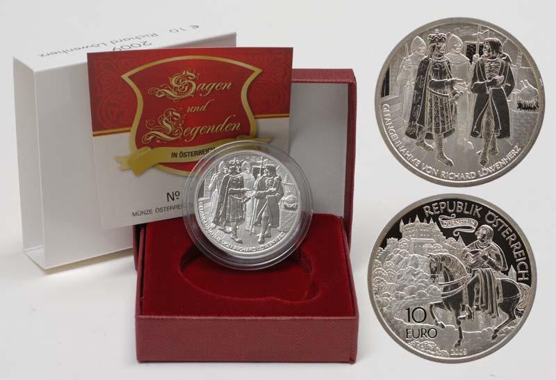 Lieferumfang:Österreich : 10 Euro Richard Löwenherz in Dürnstein  2009 PP 10 Euro Löwenherz 2009
