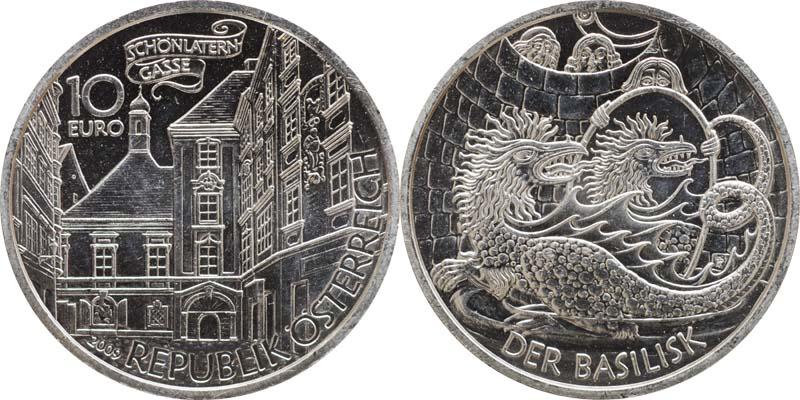 Lieferumfang:Österreich : 10 Euro Der Basilisk  2009 Stgl.