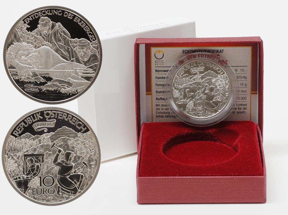 Lieferumfang:Österreich : 10 Euro Erzberg in der Steiermark  2010 PP 10 Euro Steiermark 2010