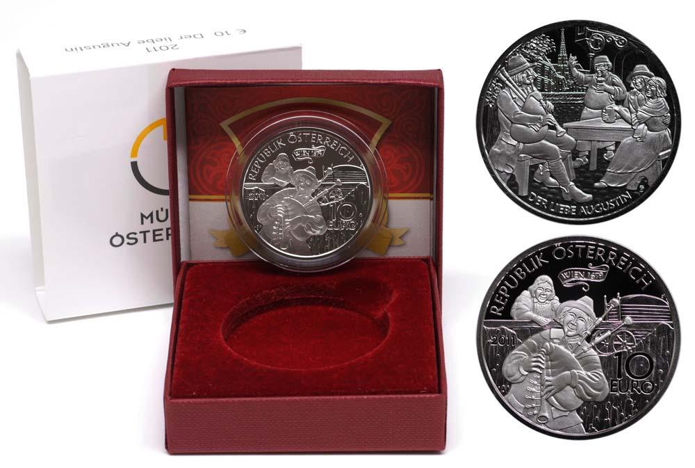 Lieferumfang:Österreich : 10 Euro Der liebe Augustin  2011 PP