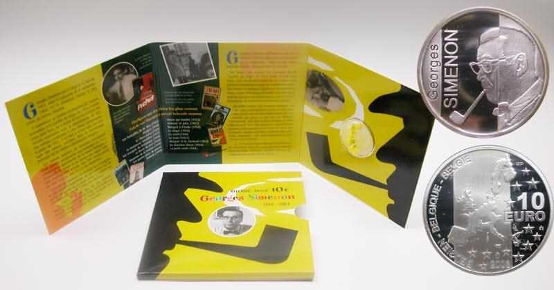 Lieferumfang:Belgien : 10 Euro Georges Simenon im Originalfolder verschweißt !  2003 PP