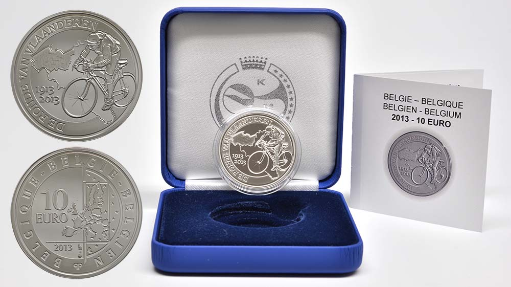 Lieferumfang:Belgien : 10 Euro 100 Jahre Flandern-Rundfahrt  2013 PP