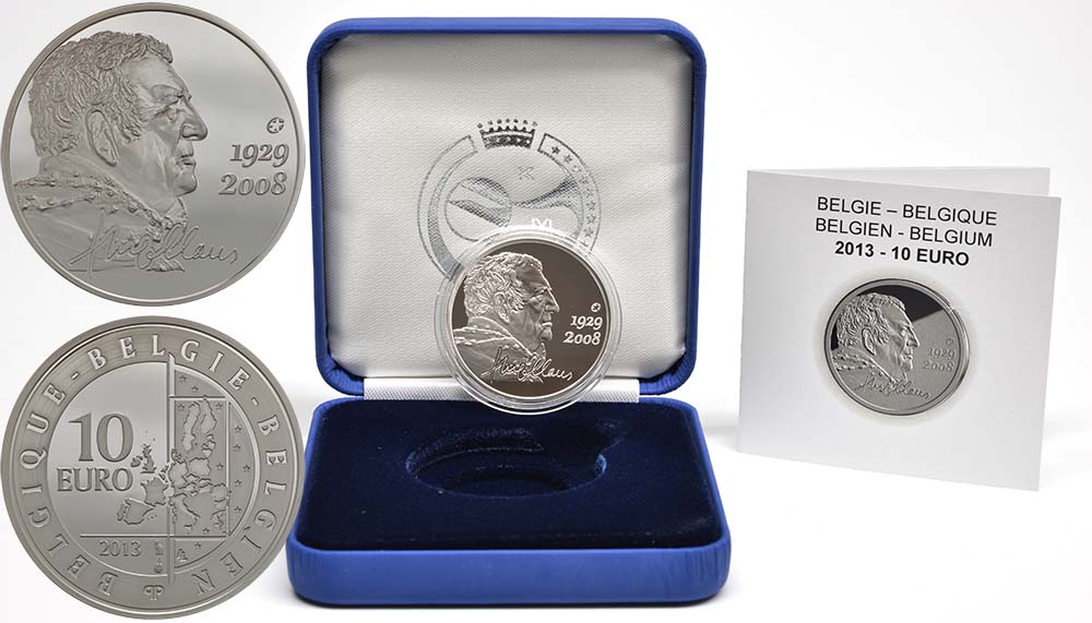 Lieferumfang:Belgien : 10 Euro Hugo Claus  2013 PP