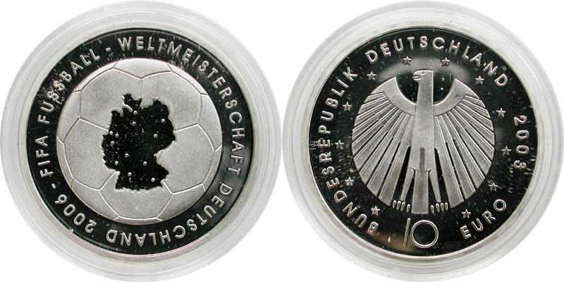 Deutschland 10 Euro I Ausgabe Fifa Fussball Wm Deutschland 2006 In