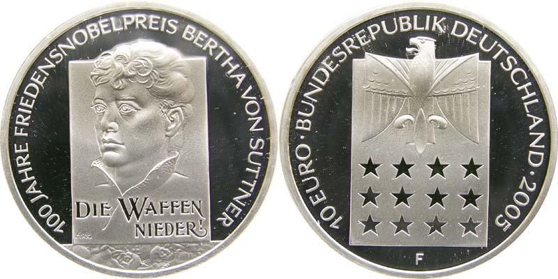 Lieferumfang:Deutschland : 10 Euro Bertha von Suttner  2005 PP