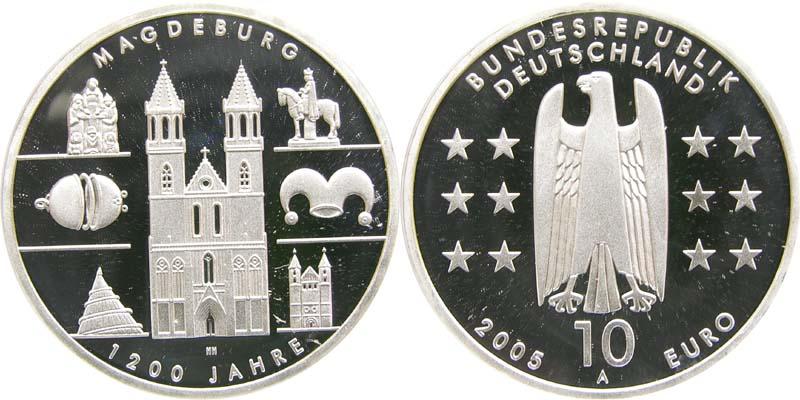 Lieferumfang:Deutschland : 10 Euro 1200 Jahre Magdeburg  2005 PP