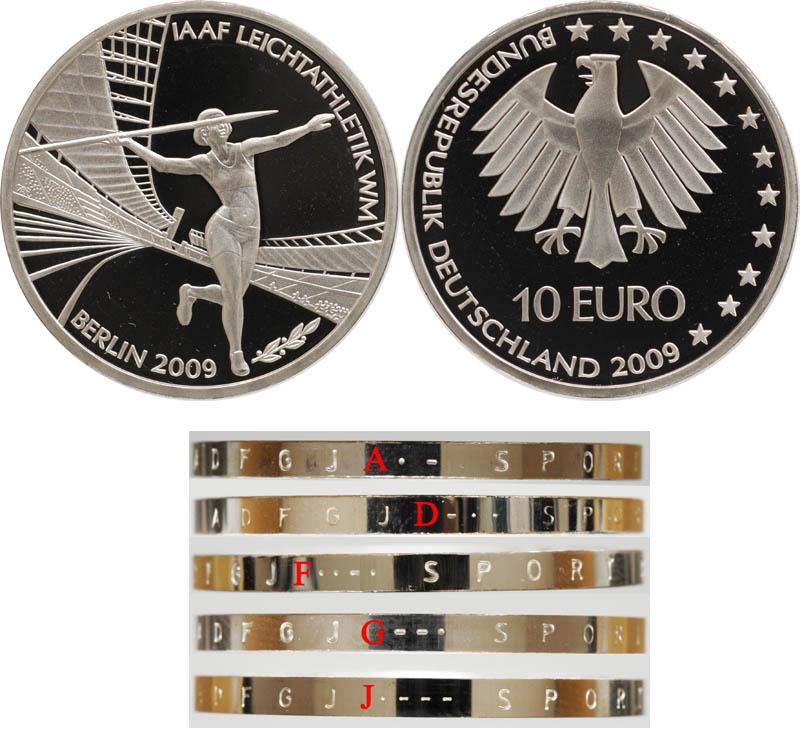 10 Euro Leichtathletik Wm Deutschland 10 Euro Aaf Leichtathletik Wm