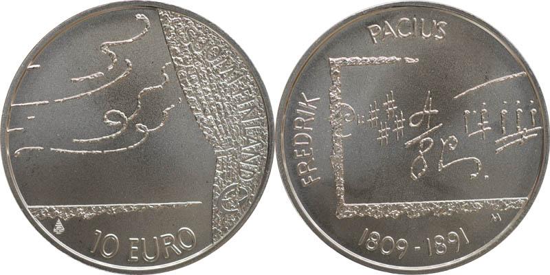 Lieferumfang:Finnland : 10 Euro Frederik Pacius in Originalkapsel mit Zertifikat  2009 Stgl.