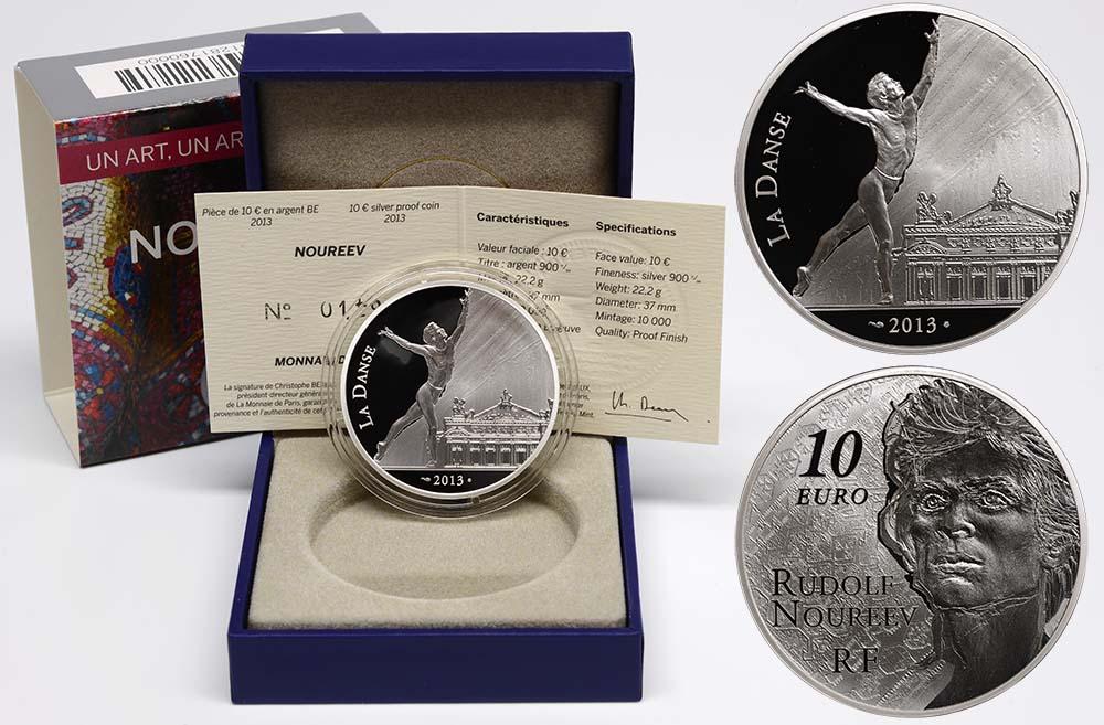 Lieferumfang:Frankreich : 10 Euro Rudolf Nureyev - Tanz  2013 PP