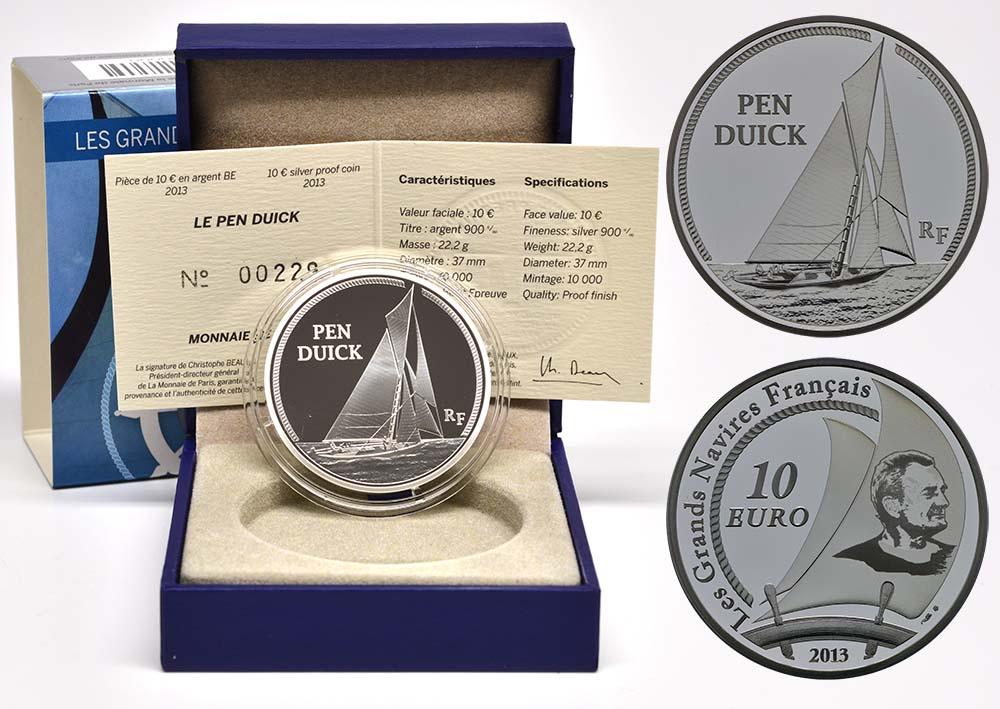 Lieferumfang:Frankreich : 10 Euro Pen Duick  2013 PP