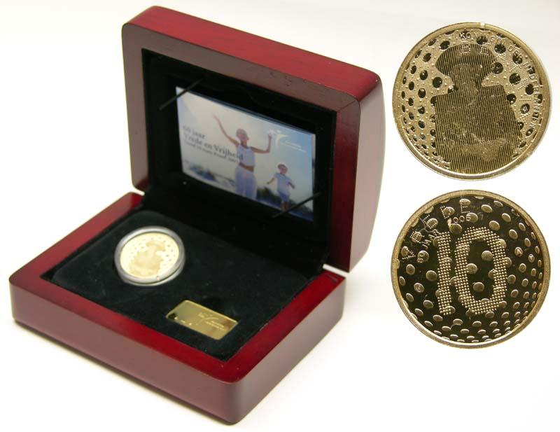 Lieferumfang:Niederlande : 10 Euro 60 Jahre Ende des II. Weltkrieges  2005 PP 10 Euro Frieden und Freiheit 2005