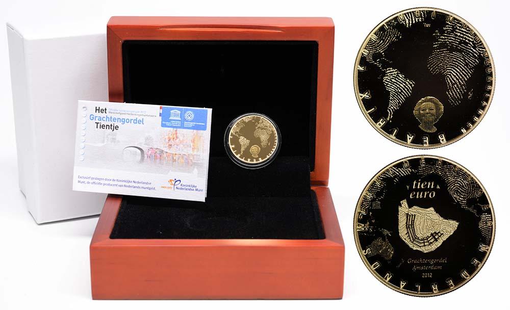 Lieferumfang:Niederlande : 10 Euro Amsterdamer Grachtengürtel  2012 PP