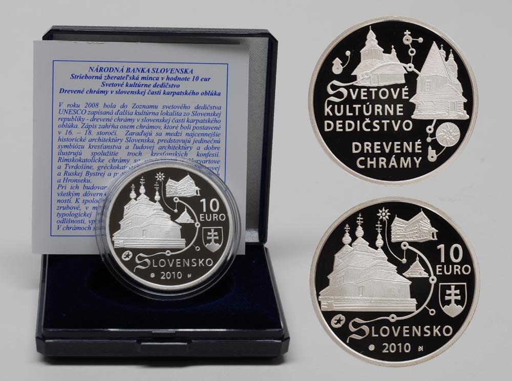 Lieferumfang:Slowakei : 10 Euro Holzkirchen in den Karpaten inkl. Originaletui und Zertifikat  2010 PP