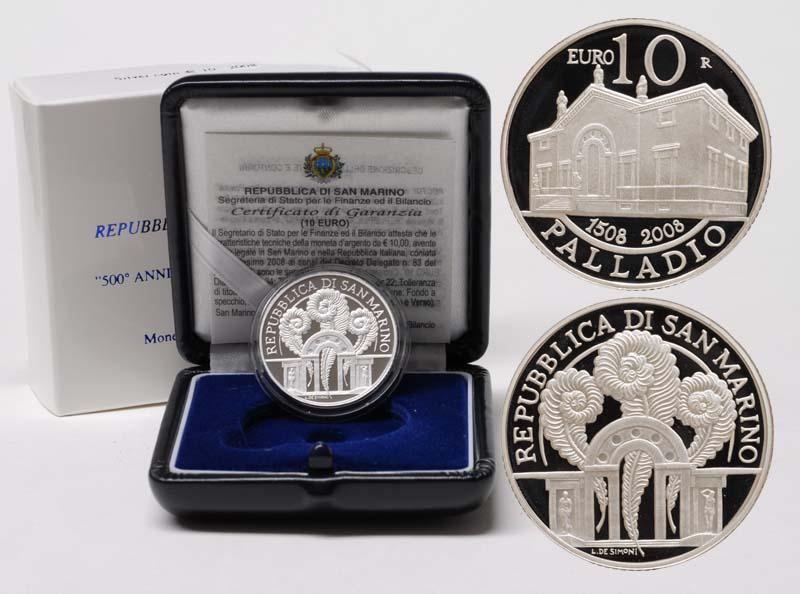 Lieferumfang:San Marino : 10 Euro Andrea Palladio  2008 PP