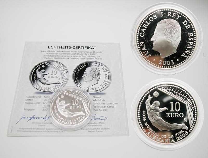 Lieferumfang:Spanien : 10 Euro zur Fußball WM in Deutschland  2003 PP