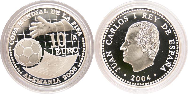 Lieferumfang:Spanien : 10 Euro zur Fußball WM in Deutschland  2004 PP