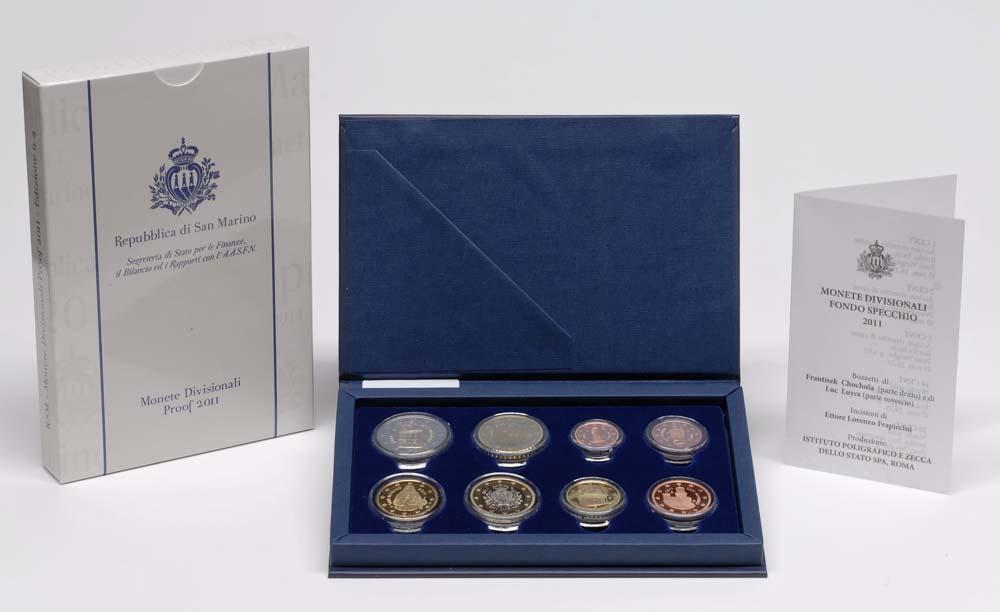 Lieferumfang:San Marino : 3,88 Euro original Kursmünzensatz aus San Marino  2011 PP KMS San Marino 2011 PP