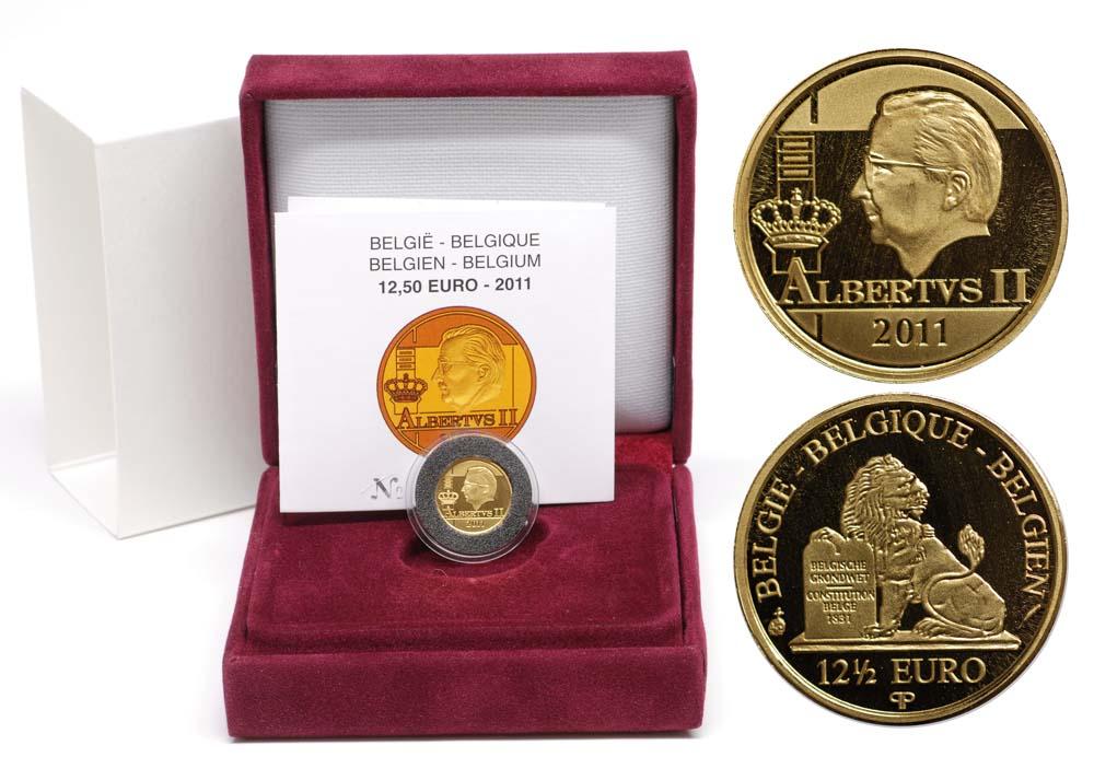 Lieferumfang:Belgien : 12,5 Euro König Albert II.  2011 PP 12 1/2 Euro Belgien 2011