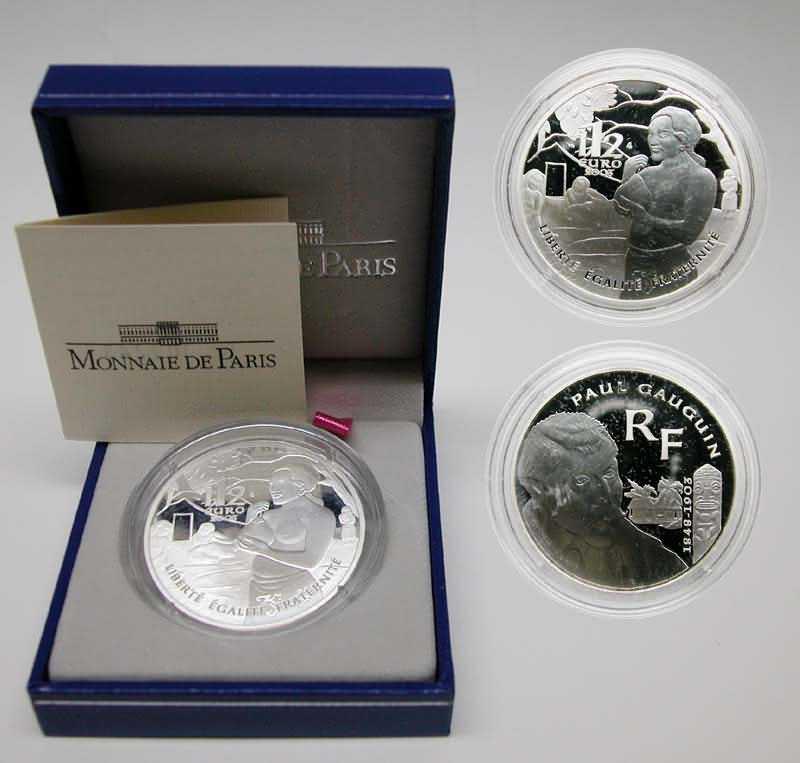 Lieferumfang:Frankreich : 1,5 Euro Paul Gauguin inkl. Zertifikat und Originaletui  2003 PP