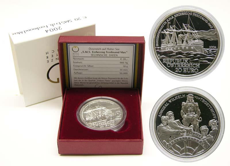 Lieferumfang:Österreich : 20 Euro SMS. Ferdinand Max  2004 PP