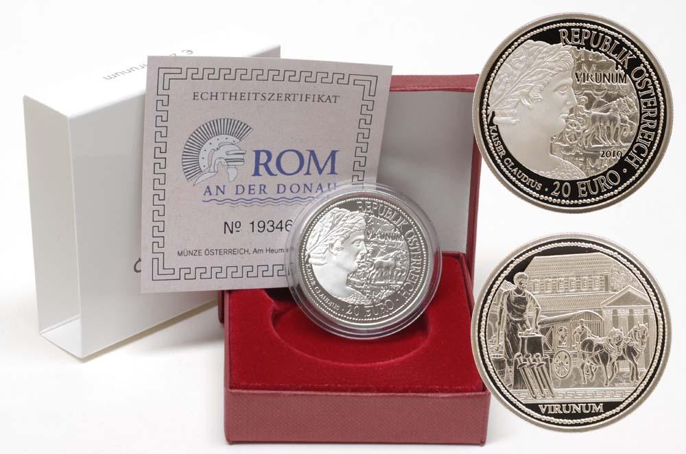 Lieferumfang:Österreich : 20 Euro Virunum  2010 PP 20 Euro Virinum