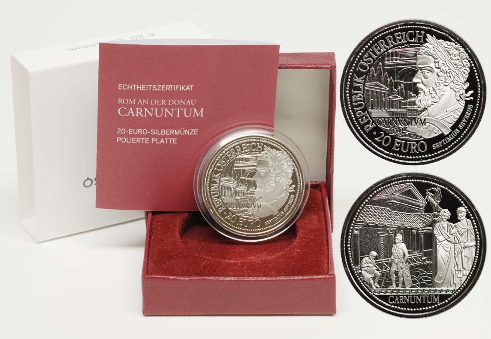 Lieferumfang:Österreich : 20 Euro Carnuntum  2011 PP