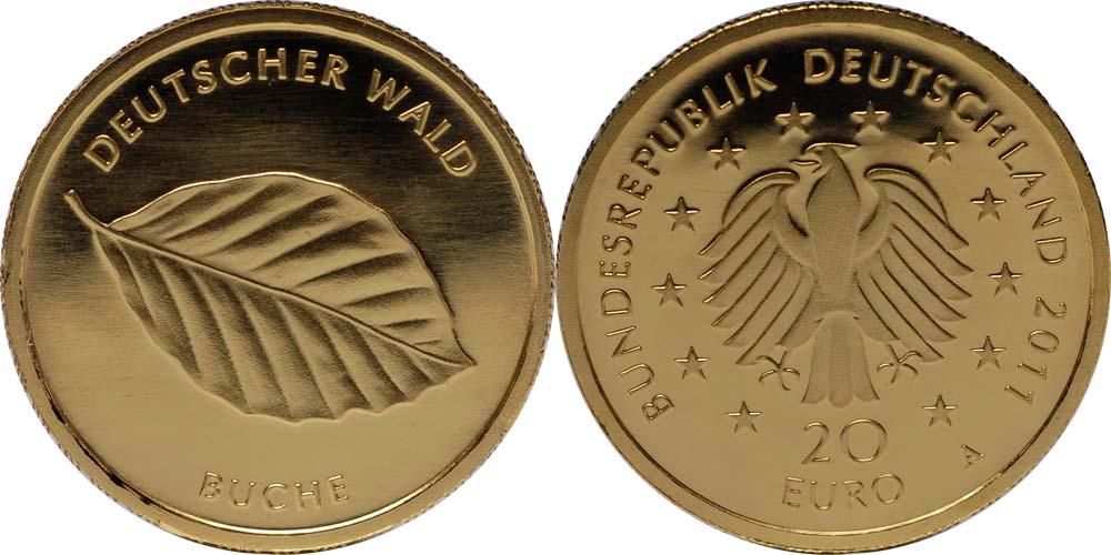 Übersicht:Deutschland : 20 Euro Buche  2011 Stgl.