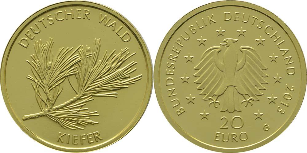 Lieferumfang:Deutschland : 20 Euro Kiefer  2013 Stgl.