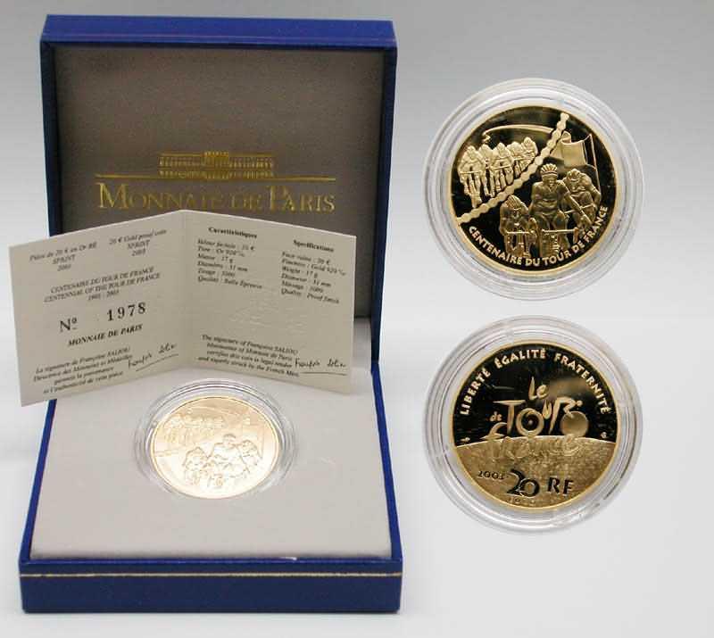 Lieferumfang:Frankreich : 20 Euro Sprint , inkl. Originaletui und Zertifikat  2003 PP