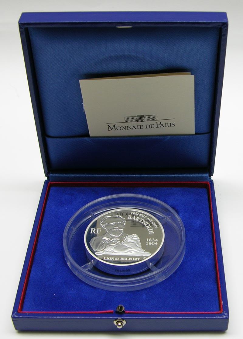 Lieferumfang:Frankreich : 20 Euro Bartholdi inkl. Originaletui und Zertifikat (5 Unzen Silbermünze !)  2004 PP