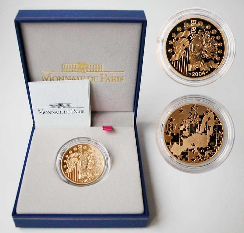 Lieferumfang:Frankreich : 20 Euro Europa-Münze  2004 PP