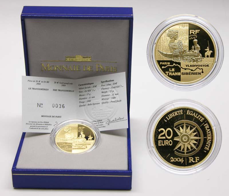Lieferumfang:Frankreich : 20 Euro Transsibirische-Eisenbahn  2004 PP