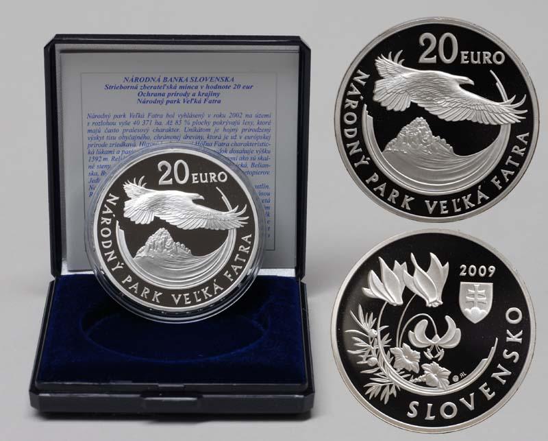 Lieferumfang:Slowakei : 20 Euro Nationalpark Velka Fatra  2009 PP