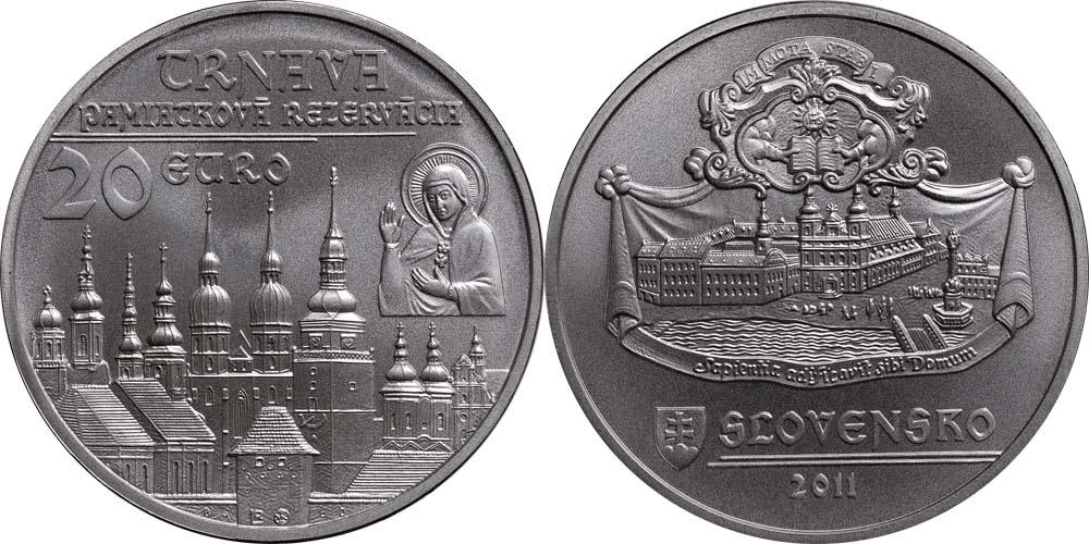 Lieferumfang:Slowakei : 20 Euro Trnava  2011 Stgl.