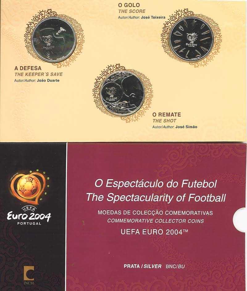 Lieferumfang:Portugal : 24 Euro II. Ausgabe 3 x 8 Euro zur Fußball EM Portugal 2004  2004 Stgl.