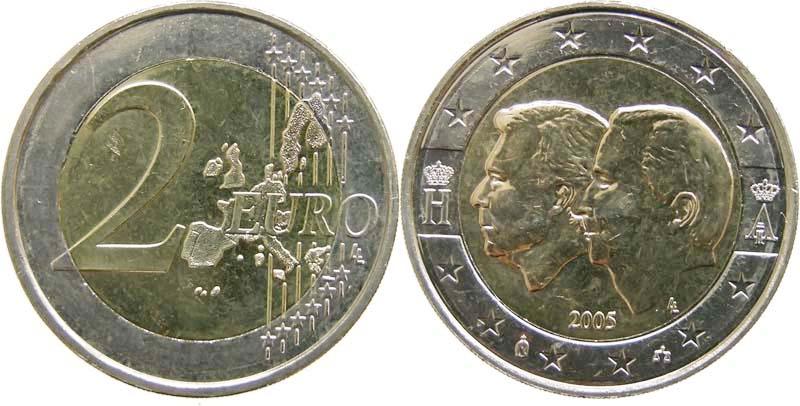 Belgien 2 Euro Henri Und Albert Ii 2005 Vzstgl
