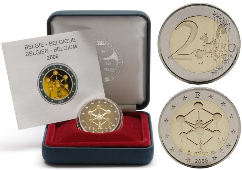 Belgien : 2 Euro Atomium Brüssel  2006 PP 2 Euro Belgien PP 2006; 2 Euro Atomium PP